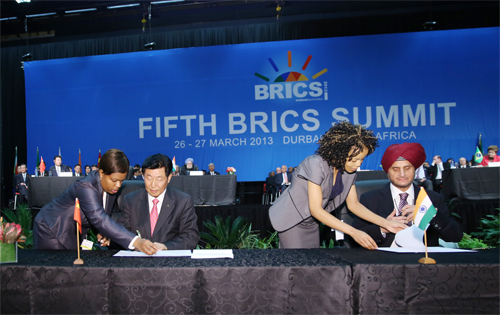 The Signing Ceremony on the Fifth BRICS Summit