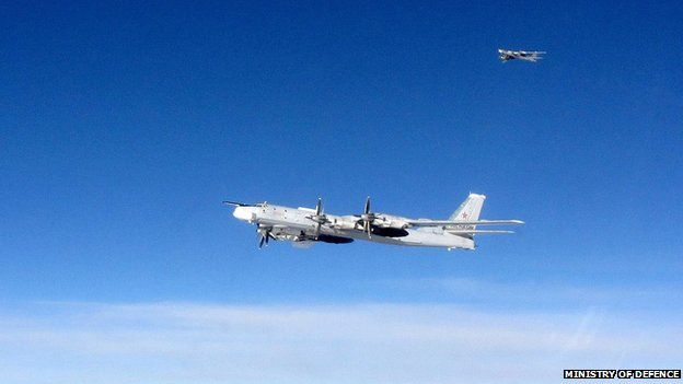 Russian aircraft have flown close to UK airspace in recent weeks(Picture from BBC)