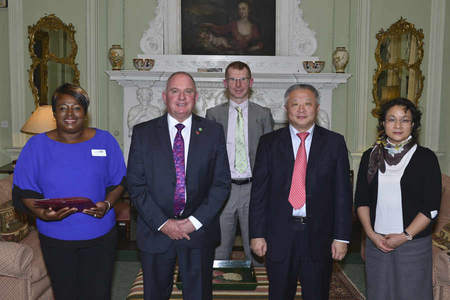 Norinco representatives with staff from UKTI and Shropshire Chamber
